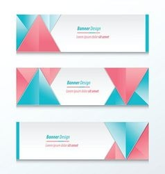 abstract banner design pink and blue vector image