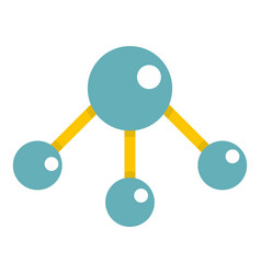 Abstract blue molecules icon isolated vector