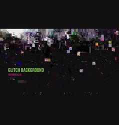 abstract glitch effect background vector image