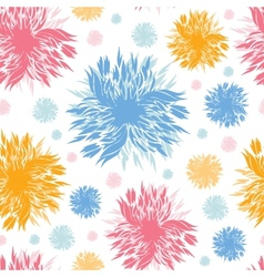 Abstract paint flowers seamless pattern background vector image