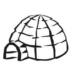 alaska igloo icon simple style vector image