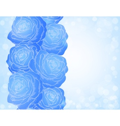 Background with blue roses bright sparkles bokeh vector