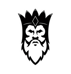 bearded king icon design element for sign badge t vector image