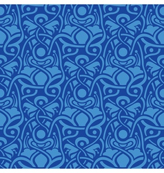 Blue seamless wallpaper vector image