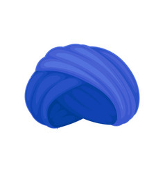 Blue turban on white vector