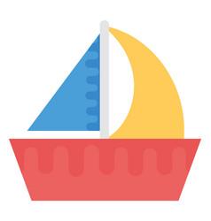 Boat flat icon vector