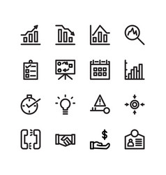 Business icon set with line style icon stock vector