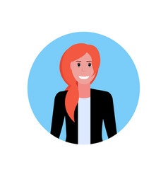 businesswoman face avatar business woman office vector image