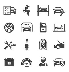 car service icon set transport industry vector image