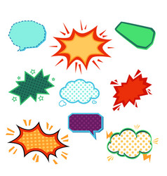 cartoon comic book speech bubble set with blank vector image