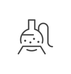 chemical equipment line icon vector image