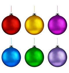 Christmas ball handing on string collection xmas vector