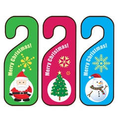 Christmas Door hanger vector image