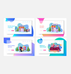 christmas promotion landing page template set vector image