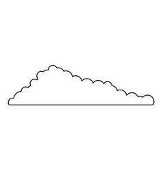 cloud monochrome in white background vector image