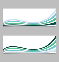 Colorful banner background from wave stripes vector