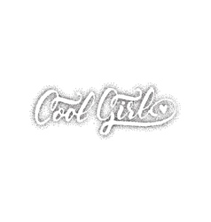 Cool girl Pointillism - Calligraphic patch vector