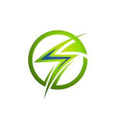 creative thunder concept logo design template vector image