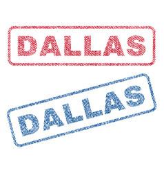 Dallas textile stamps vector