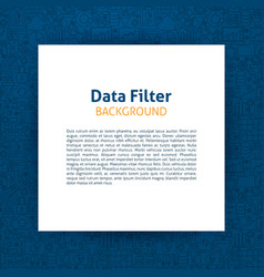 data filter paper template vector image