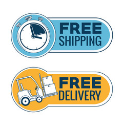 delivery service with chronometer vector image