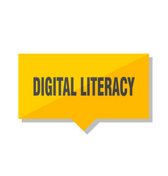 Digital literacy price tag vector