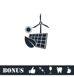 Eco power icon flat vector image