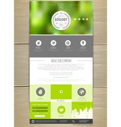Ecology concept Web site design vector image