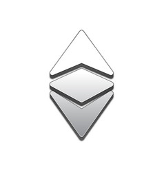 Ethereum classic trendy 3d style icon vector
