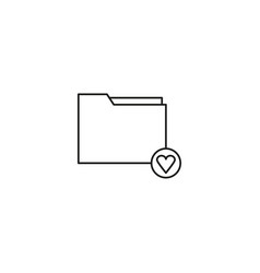 favorite folder icon vector image