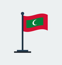 flag of maldivesflag stand vector image