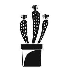 flower cactus icon simple style vector image
