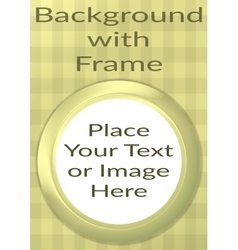 Frame Porthole on Yellow Background vector