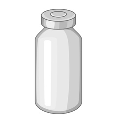 Glass medicine bottle icon cartoon style vector image