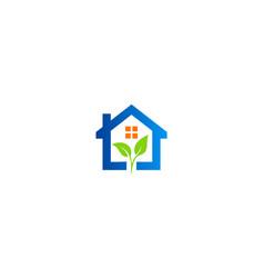 green leaf home garden logo vector image