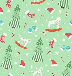 Green New Year pattern vector image