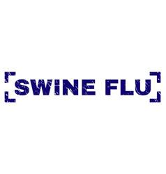 Grunge textured swine flu stamp seal between vector