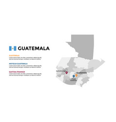 guatemala map infographic template slide vector image