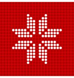 Icon snowflake vector image