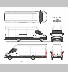 Iveco daily cargo delivery van l5h3 2014-2019 vector