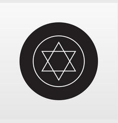 jewish star plate icon flat symbol isolate vector image