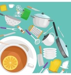 Kitchenware utensils set vector
