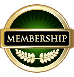 Membership icon vector