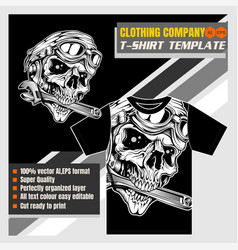 Mock up clothing company t-shirt templatestyle vector