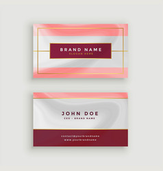 Modern business card in marble style texture vector