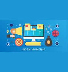 Modern flat gradient digital marketing vector