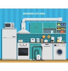 Modern Kitchen Background vector image