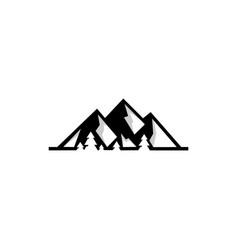 mountain landscape outdoor peak adventure vector image