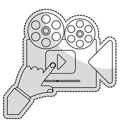 Movie or video related icon image vector