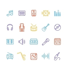 Music Icon Colorful Set vector image